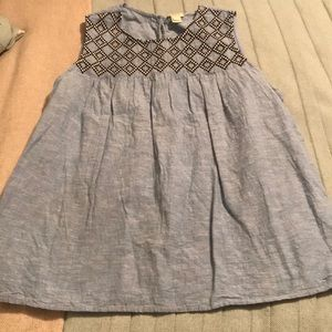 Darling J Crew Chambray baby doll top.